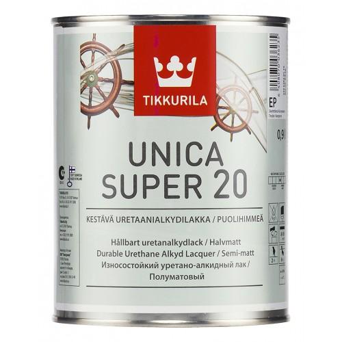 Лак уретано-алкидный Unica Super 20 п/м. 0,9л.