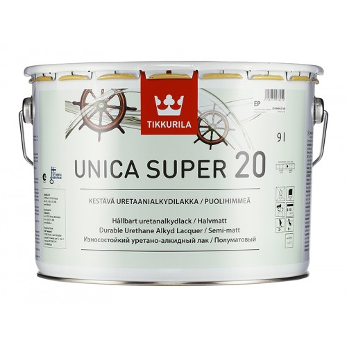 Лак уретано-алкидный Unica Super 20 п/м. 9,0л.