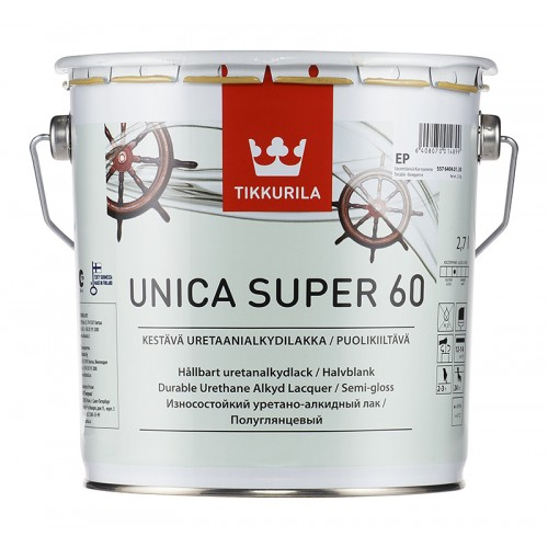 Лак уретано-алкидный Unica Super 60 п/гл. 2.7л.