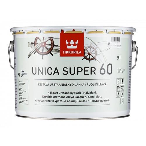 Лак уретано-алкидный Unica Super 60 п/гл. 9,0л.
