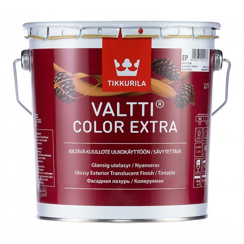 Состав Valtti Color Extra глянцевая фасадная лазурь 2,7л