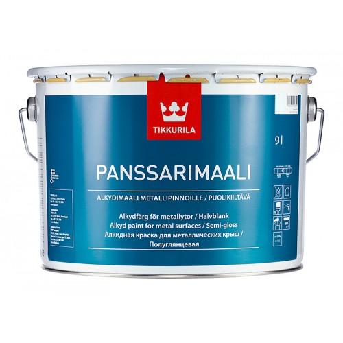 Эмаль Panssarimaali База С 9,0л по металу для нар. работ