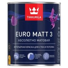 Краска Euro Matt 3 д/стен и потолков г/м А 0.9 л