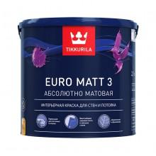 Краска Euro Matt 3 д/стен и потолков г/м А 2.7 л