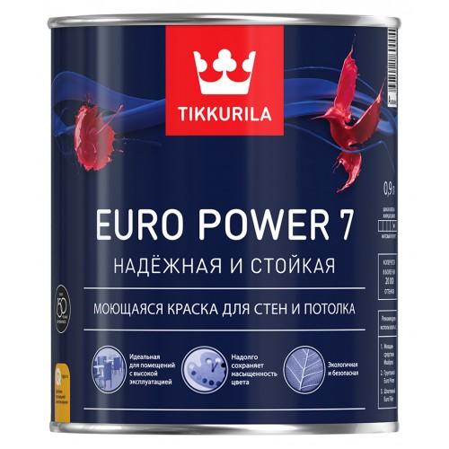 Краска Euro Power 7 мат. А 0.9 л