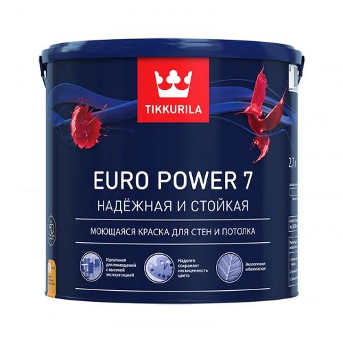 Краска Euro Power 7 мат. А 2.7 л