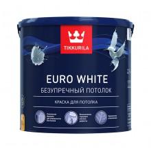 Краска акрилатная Euro White 2.7 л