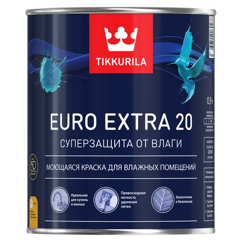 Краска Euro Extra 20 п/м База С 0.9 л