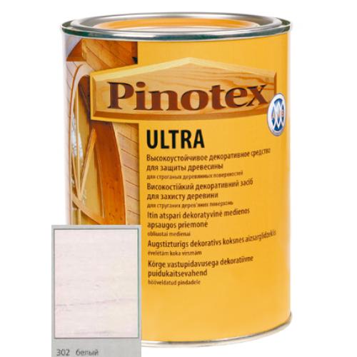 Антисептик Pinotex ULTRA с лаком белый   2л